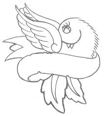 free designs bird and dove and ribbon