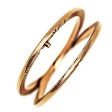 gimmel ring 1897 gimmel wedding ring or band 14kt gold from