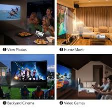 Backyard Home Theater Amazon Com Deeplee Dp400 Mini Projector 1000 Lumen Led Lcd Home