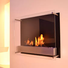 bioethanol fireplace contemporary open hearth wall mounted