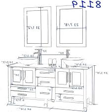 Standard Height Bathroom Vanity by Height Of Bathroom Mirror U2013 Justbeingmyself Me