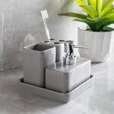 Ceramic Bathroom Fixtures Bathroom Harman Elements Grey Ceramic Bath Accessory Combo Set