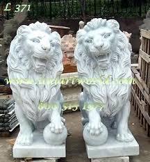 statue lions garden statue lions lion outdoor statue of lions a pair marble