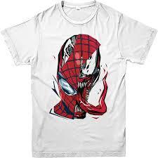 spiderman shirt venom spiderman face shirt marvels ebay