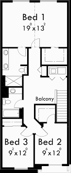 floor plan 3 bedroom house narrow lot house plans small house plans with garage 10105