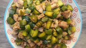 cuisiner concombre carbonade de porc au concombre aux saveurs asiatiques recette par
