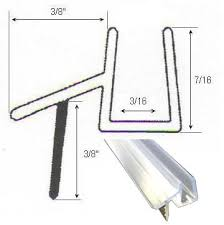 Sealing Glass Shower Doors Clear Shower Door Sweep Seal With Drip Rail For 3 16 Glass 36