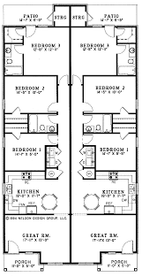 Duplex Home Plans One Story Neoclassical Duplex Hwbdo64209 Neoclassical House