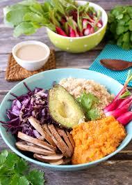 et sa cuisine assiette complète végétale et sans gluten sauce tahin vegan