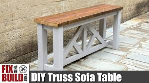 Sofa Table Diy Sofa Table Console Table How To Build Youtube