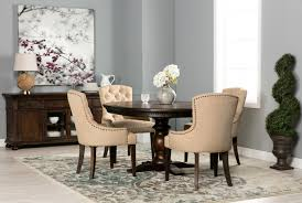 jefferson extension round dining table living spaces