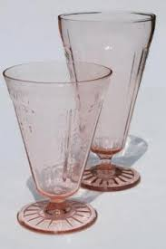 Footed Glass Vase Vintage Vases U0026 Planters