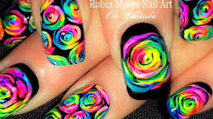 robin moses nail art rainbow roses nail art and how to paint them