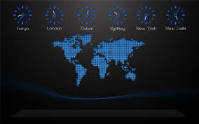 Map Of World Time Zones by New Big Screensaver World Time Zone Map Screensaver