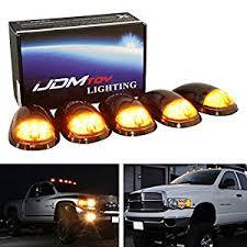 dodge truck options amazon com ijdmtoy 5pc smoked lens truck cab roof ls w