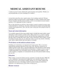 Resume Resources Examples by Resume Examples Medical Assistant