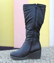 womens boots tesco clothing at tesco f leather back zip boot boots shoes
