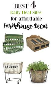 best 4 daily deal sites for affordable farmhouse decor