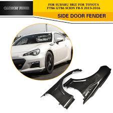 subaru toyota a pair carbon fiber car side fender flares trim for subaru brz