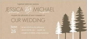 Tree Wedding Invitations Rustic Pine Trees Wedding Invitation Wedding Invitations