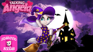 halloween background of wich my talking angela halloween angela witch costume great