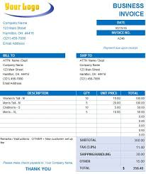 Construction Invoice Template Excel Free Excel Invoice Templates Smartsheet