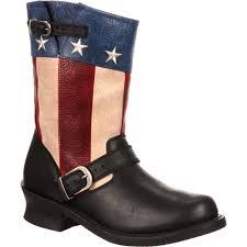 mens tan motorcycle boots durango city men u0027s soho patriotic engineer boots dcdb025