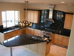 Maple Cabinet Kitchen Natural Maple Cabinet With Dark Countertops But Not On The