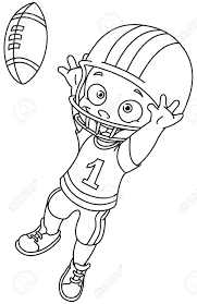football player clipart black and white kids clipartxtras