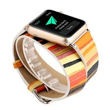 ladies leather strap bracelet images Rykimte smart watch band for apple watch iwatch chromatic colorful jpg