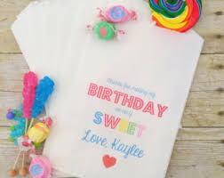 Birthday Favor Bags by Birthday Favor Bags Etsy
