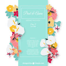 marriage invitation card sle wedding invitation card with colorful flowers vector free