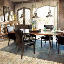 Round Table Rectangular Rug Blue Dining Room Rugs Soft Painted Gray Finish Black Stained