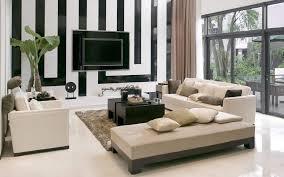 Striped Sofas Living Room Furniture Sensasional L Shaped Sofas With Black White Striped Wall Panels