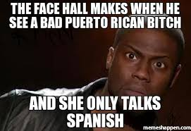 Puerto Rican Memes - the face hall makes when he see a bad puerto rican bitch and she