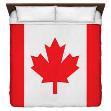 Poly Flag Custom Canadian Flag Duvet Cover 100 Brushed Poly W 50 50 Back