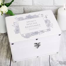 personalized keepsake boxes personalised soft watercolour white leatherette keepsake box