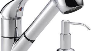 peerless pull out kitchen faucet pull kitchen faucet with soap dispenser 7 verdesmoke