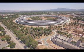 apple spaceship campus filmed by 4k drone and it looks amazing