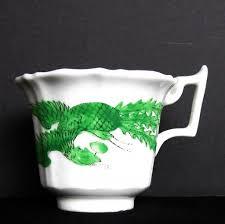 rare joseph machin porcelain coffee cup green dragon u0026 phoenix