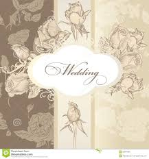 Designs Of Marriage Invitation Cards Wedding Invitation Card In Vintage Style Stock Photo Image 33964290