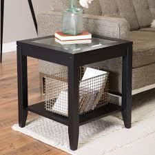 Quatrefoil Home Decor Shelby Glass Top End Table With Quatrefoil Underlay Walmart Com