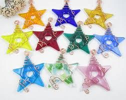 colorful glass suncatchers ten fused glass