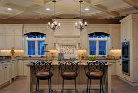 elegant long island kitchen design for a large scale room home