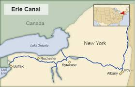 map of the erie canal history part 1 the growing nation 1777 1830