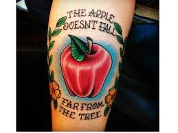 100 cool apple tattoos