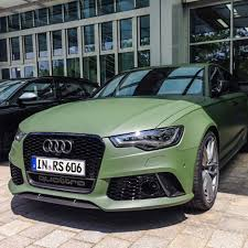 audi rs6 avant looks interesting with matte green paint
