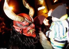 Krampus Costume Santa U0027s Evil Sidekick The Krampus Prowls Through Austria As Part