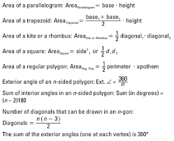 Formula For Interior Angles Of A Polygon Geometry Formulas For Polygons Dummies