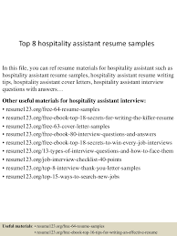 Resume Template For Hospitality Top8hospitalityassistantresumesamples 150516021735 Lva1 App6892 Thumbnail 4 Jpg Cb U003d1431742717